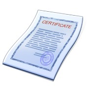exhibit e certificate